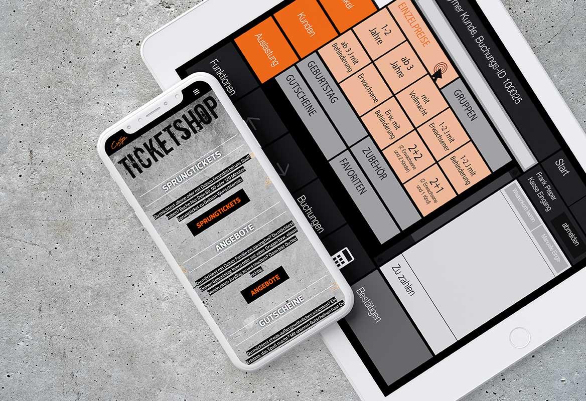 Kasse und Buchung - Kassensystem Onlinebuchung Ticketsystem Contigo Indoortainment