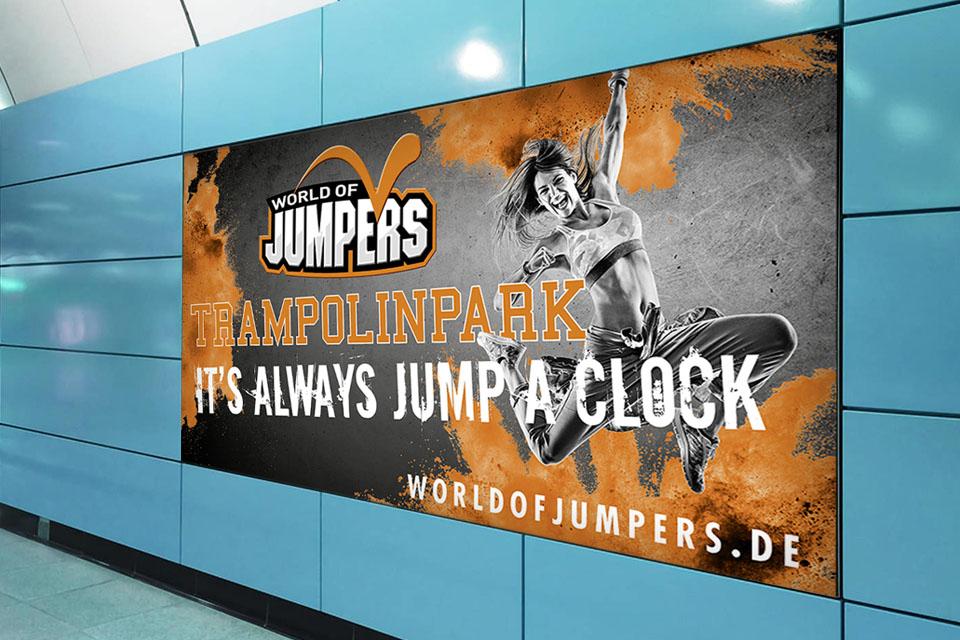 Marke Branding Brand Advertising Werbung Indoorspielplatz Trampolinpark trampoline indoor park Contigo Indoortainment