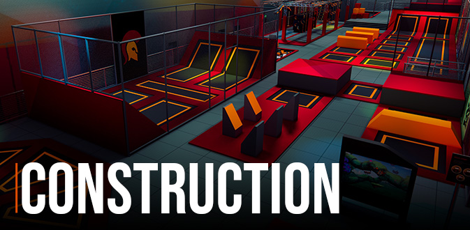 Construction Equipment Establishment of indoor playground trampoline park
