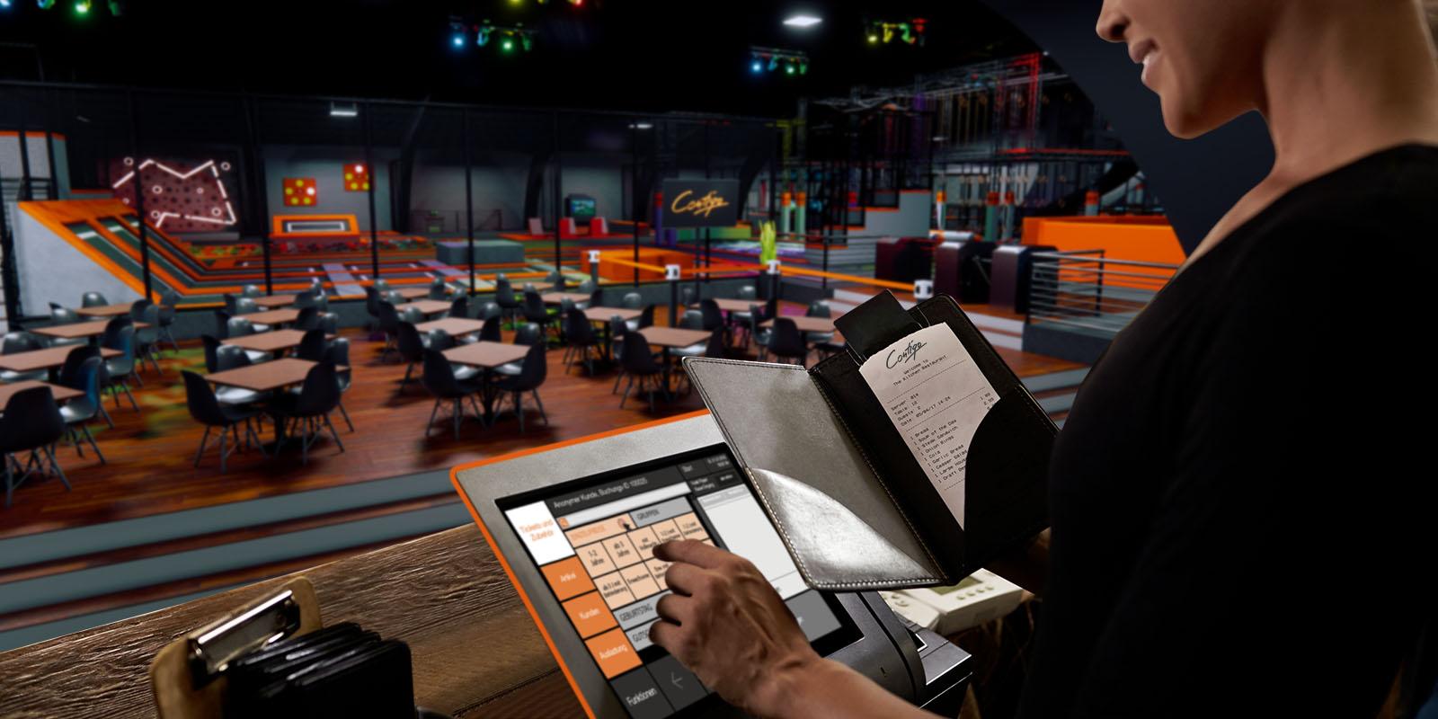 Kasse Indoorpark Indoorspielplatz Trampolinpark Contigo Indoortainment