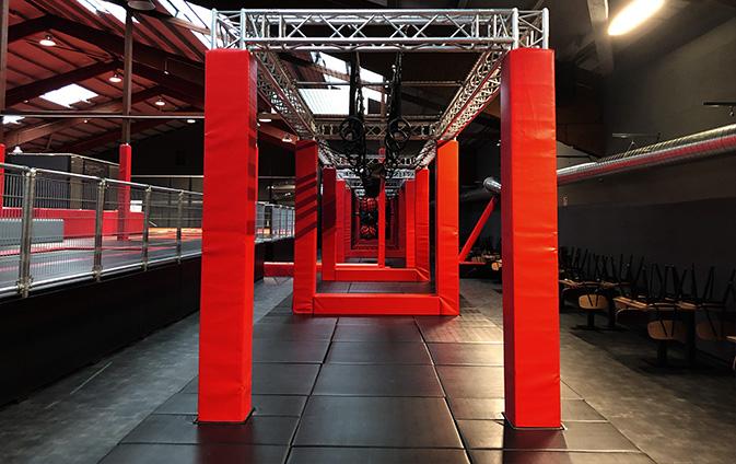 trampoline maincourt sprungbereich sprungbude superfly contigo indoortainment